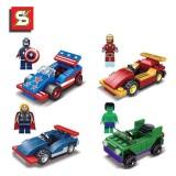 wholesale - Marvel The Avengers Block Mini Figure Toys Compatible with Lego Parts 4Pcs Set