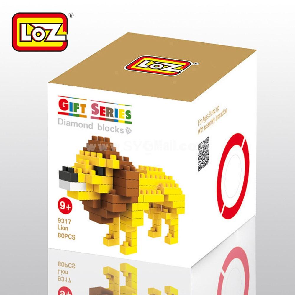 LOZ DIY Diamond Blocks Figure Toy Lion 9317