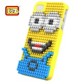 wholesale - The Minions LOZ DIY Diamond Block Case for iPhone 4/4S