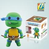 Wholesale - DIY Colorful Modeling Clay Ninja Turtles Figure Toy Leonardo BN9990-2