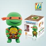 Wholesale - DIY Colorful Modeling Clay Ninja Turtles Figure Toy Michelangelo BN9990-3