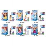 wholesale - Frozen Block Mini Figure Toys Compatible with Lego Parts 6Pcs Set 78043