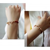 Wholesale - Wanying Cute Mickey Crystal Knit Bracelet