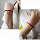 Wholesale - Wanying Exquisite Bell Lock Knit Bracelet
