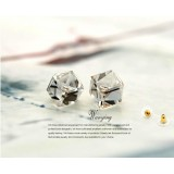 Wholesale - Wanying Stylish Square Crystal Stud Earrings