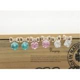 Wholesale - Wanying Stylish Bowknot Crystal Stud Earrings