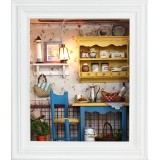 Wholesale - Wooden DIY Handmade Self-Assemble 3D Mini House Frame -- W002 Leisurely Lunch