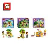wholesale - Girls Friends Blocks Mini Figure Toys Compatible with Lego Parts 3Pcs Set SY151