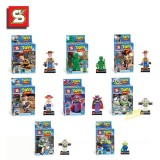 Toy Story Buzz Light Block Mini Figure Toys Compatible with Lego Parts 8Pcs Set SY172