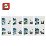 wholesale - The Castle Knights with Skull Man Blocks Mini Figure Toys Compatible with Lego Parts 8Pcs Set SY165