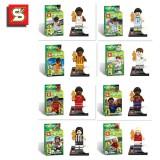 wholesale - Brazil World Cup Blocks Mini Figure Toys Compatible with Lego Parts 8Pcs Set SY162