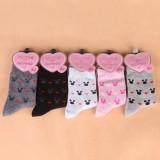 Wholesale - 10pcs/Lot Cartoon Women Winter Thickened Cony Hair Socks Room Socks -- Mickey Mixed Colors
