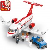 Wholesale - Sluban  DIY C-concept Airplane Passengers Blocks Mini Figure Toys Compatible with Lego Parts 275Pcs B0365