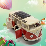 Wholesale - Car 1962 Volkswagen Classic Hippy Bus Diecast Pull Back Metal Model Car 17*6*7cm/6.69*2.36*2.75inch
