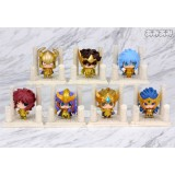 Wholesale - Anime Saint Seiya Egg Box Q Version Gold Zodiac Action Figures Toys 7Pcs Set Q236