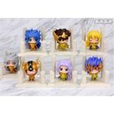 Wholesale - Anime Saint Seiya Egg Box Q Version Gold Zodiac Action Figures Toys 7Pcs Set Q237