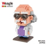 Wholesale - Weagle DIY Diamond Mini Blocks Figure Toys Hershel Agasa 247Pcs 2221