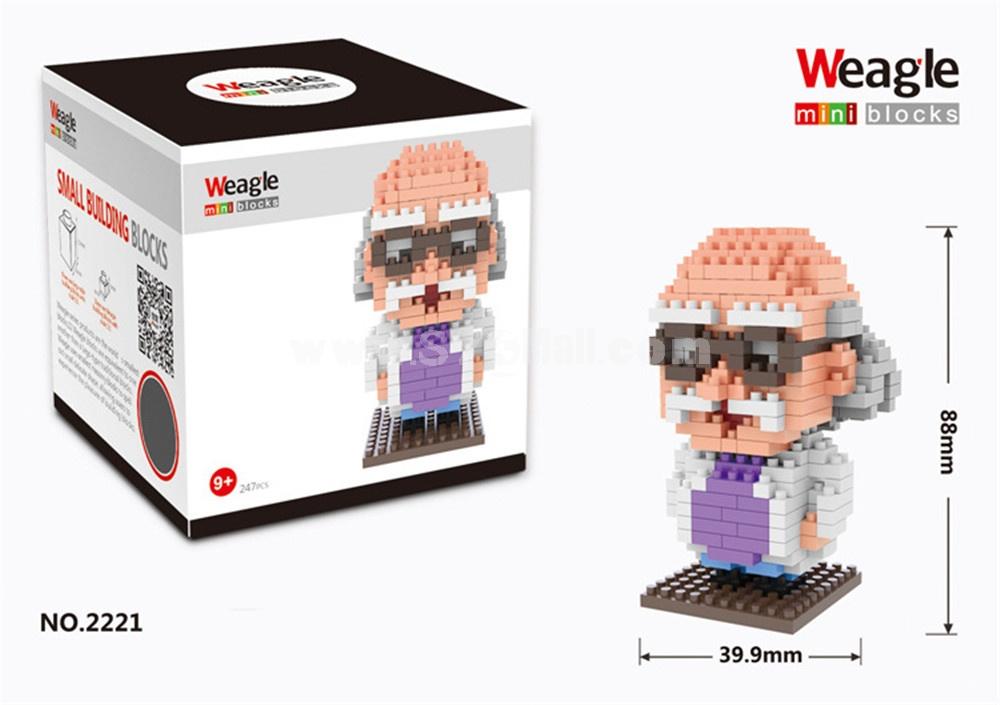 Weagle DIY Diamond Mini Blocks Figure Toy Detective Conan Series Hershel Agasa  2221