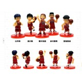 Wholesale - Slamdunk Xiangbei Basketball Team PVC Action Figures Toys 5Pcs Set