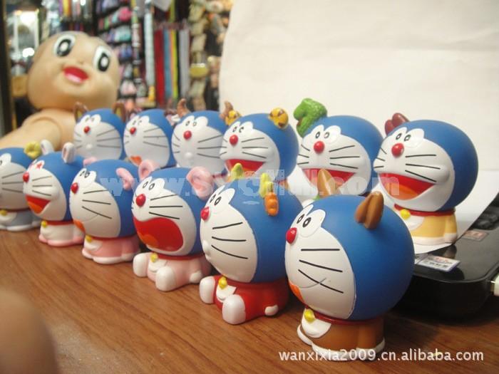 Doraemon 12 Zodiac Blue Cute PVC Action Figures Toys 12Pcs Set