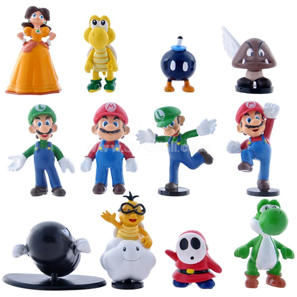 Super Mario PVC Action Figures Toys 12Pcs Set