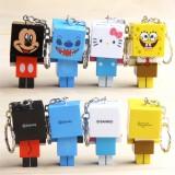 Wholesale - Disney Series Block Figures Toys Key Chains 8pcs Set