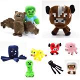 Wholesale - Minecraft Steve Zombie Enderman Creeper Plush Toys Stuffed Animals 10Pcs Set