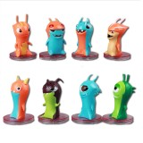 Wholesale - Slugterra PVC Mini Figures Toys 8Pcs Set With Base Stand 5cm/2inch