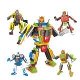 wholesale - DIY Blocks Figure Toy Fashion Deformation Team 4 In 1 TS30102-01-04