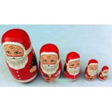 Wholesale - 5pcs Russian Nesting Doll Handmade Wooden Cute & Novel Cartoon Father Christmas