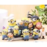 wholesale - DESPICABLE ME 2 The Minions Action Figures Toy PVC 12Pcs Set