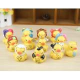 Wholesale - Yellow Duck Zodiac Series Action Figures Toys 12Pcs Set