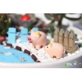 Wholesale - Mini Garden Piggy Action Figures Toy 3Pcs Set