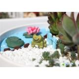 Wholesale - Mini Garden Frog Action Figures Toy 3Pcs Set