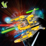 Wholesale - DIY Space War Blocks Figure Toys Compatible with Lego Parts Lightning Warship 168Pcs 6605