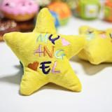 Wholesale - Sound Module Forest Serise Animal Pattern Plush Toys Pet Toys Pet Dog Toys -- Star plush