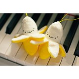 Wholesale - Banana Phone Bag Pendant Plush Toy 10cm/3.9inch