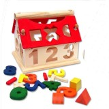 Wholesale - Wooden Toy House Digital Home Education Toy YX087