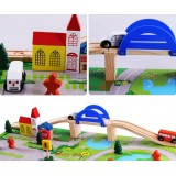 Wholesale - Wooden Urban Railway System Assembly Blocks Education Toys 40Pcs
