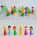 wholesale - Mermaid Blocks Mini Figure Toys Compatible with Lego Parts M1004-1-6