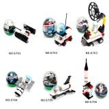 Wholesale - Wange Space Twisted Egg Blocks Mini Figure Toys Compatible with Lego Parts 6Pcs Set 6701-6706