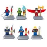 wholesale - The Avengers Blocks Mini Figure Toys Compatible with Lego Parts 6Pcs Set 10242