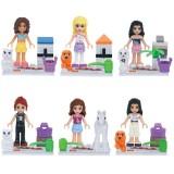 wholesale - Frozen Blocks Mini Figure Toys Compatible with Lego Parts 6Pcs Set 78043