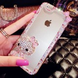 wholesale - Hello Kitty Clear Luxury Fancy Bling Crystal Rhinestone Diamond Case for iPhone 6/6s, iPhone 6/6s Plus