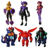 wholesale - Big Hero 6 Baymax Action Figures Toy 6Pcs Set 6-10cm/2.3-3.9inch