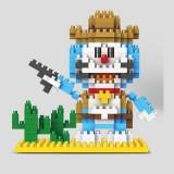 Wholesale - LinkGo DIY Diamond Mini Blocks Figure Toy Doraemon West Cowboy 303Pcs 9618