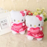 Wholesale - Lovely Hello Kitty Sweet Heart Style Dol Plush Toy 18cm/7inch