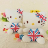 Wholesale - Lovely Hello Kitty British Flag Style Doll Plush Toy 20cm/7.8inch