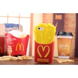 Wholesale - 3d Silicone Gel McDonald's Fries Protection Cell Phone Case Cover For Apple iPhone 6 / 6 Plus