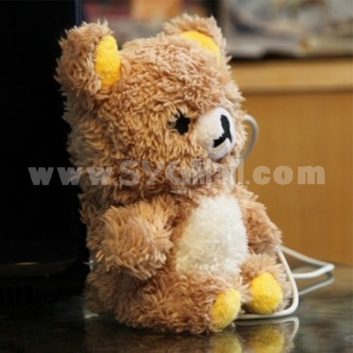 3D Cute Teddy Bear Toy Doll Plush Cover Case For Apple iPhone 6 Plus